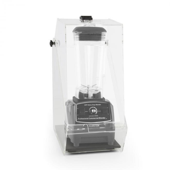 Klarstein Herakles 2G Batidora vertical negra con cubierta 1200W 1,6 PS 2 litros libre de BPA