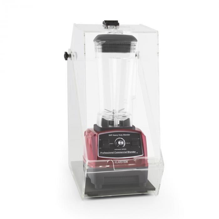 Klarstein Herakles 2G Batidora Vaso rojo con cover 1200W 1,6 PS 2 litros libre de BPA