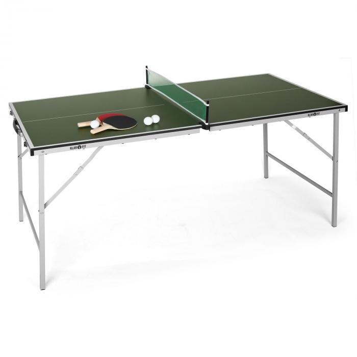 KLARFIT King Pong Mesa de ping-pong plegable verde