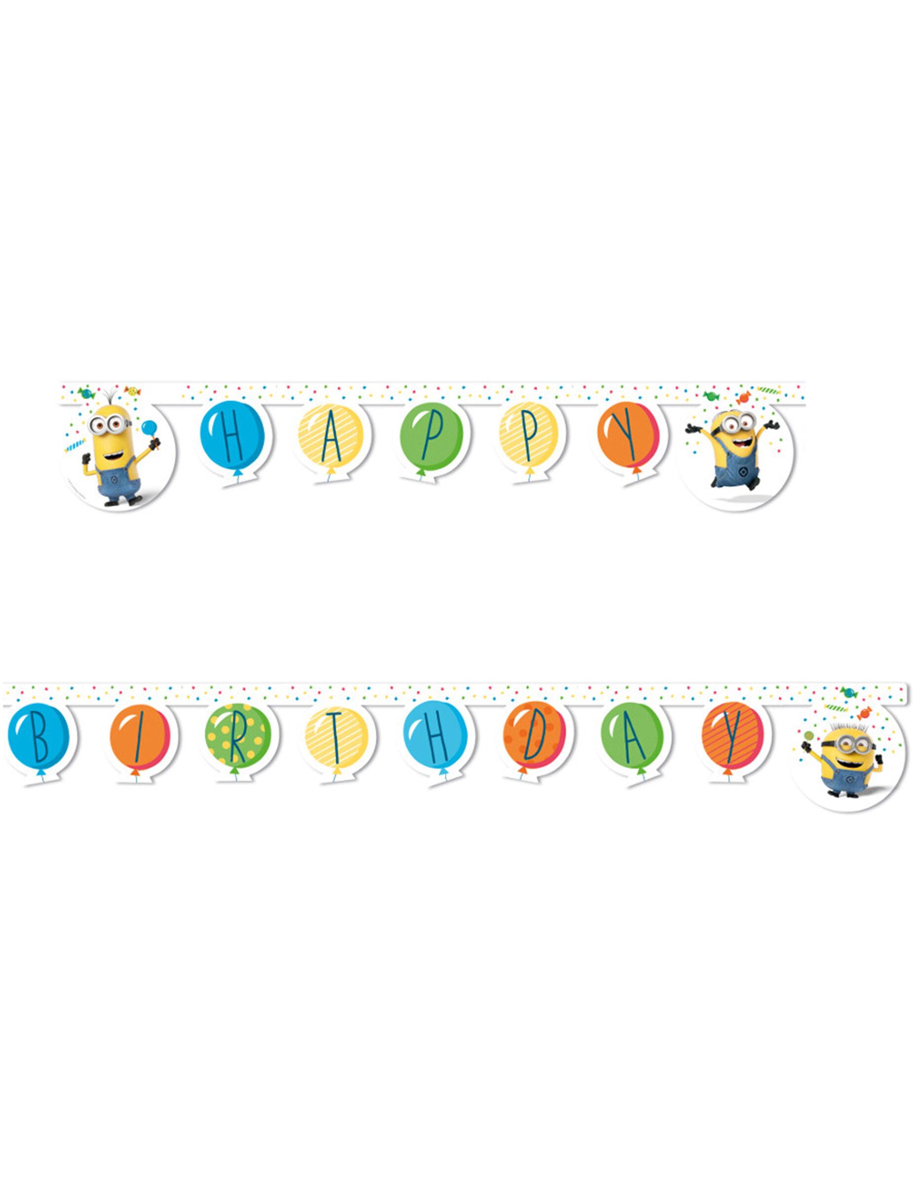Vegaoo.es Guirlanda happy birthday Minions globos party 2 m