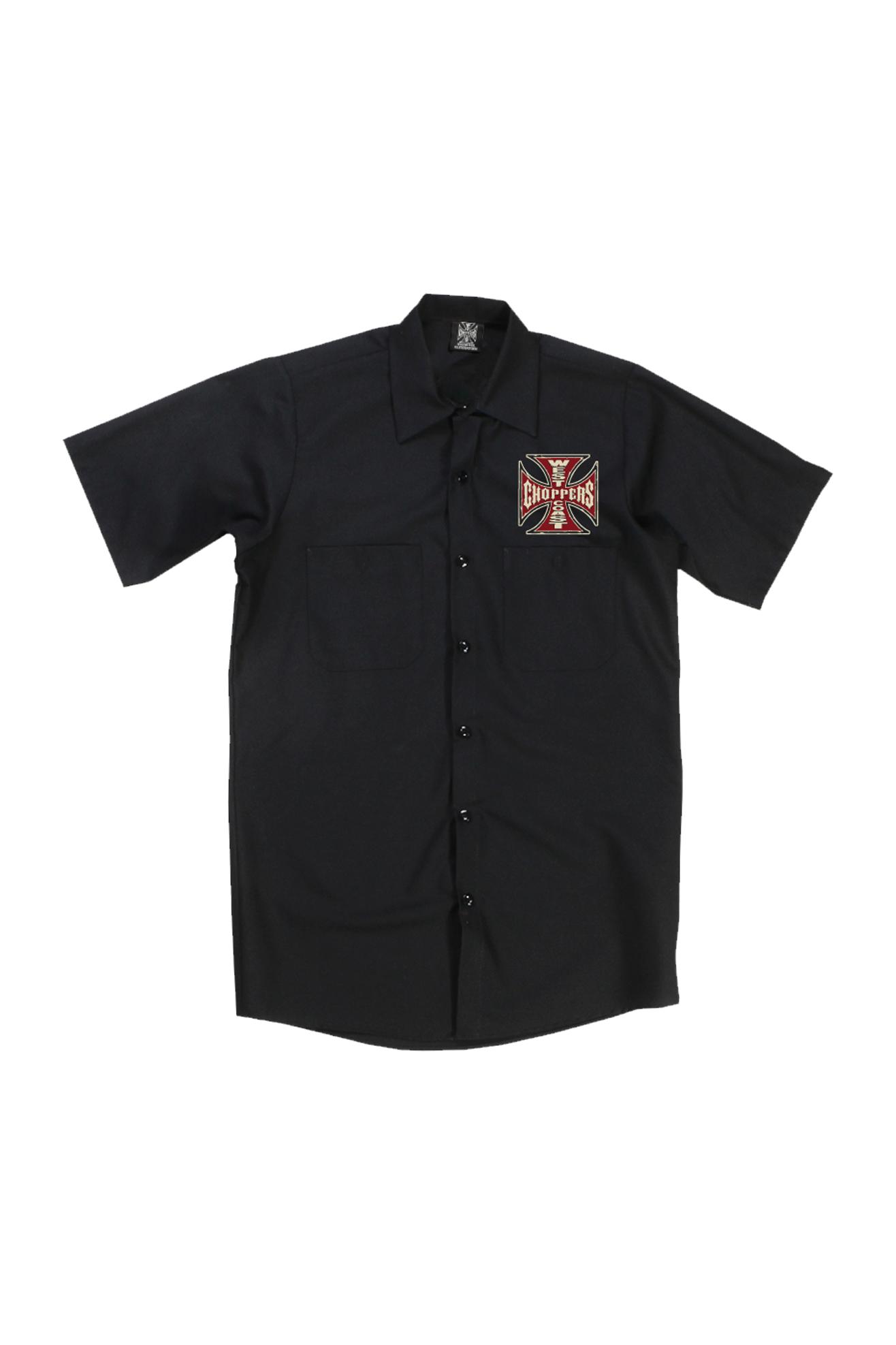 West Coast Choppers Camisa de Trabajo  Motorcycle CO. Negra