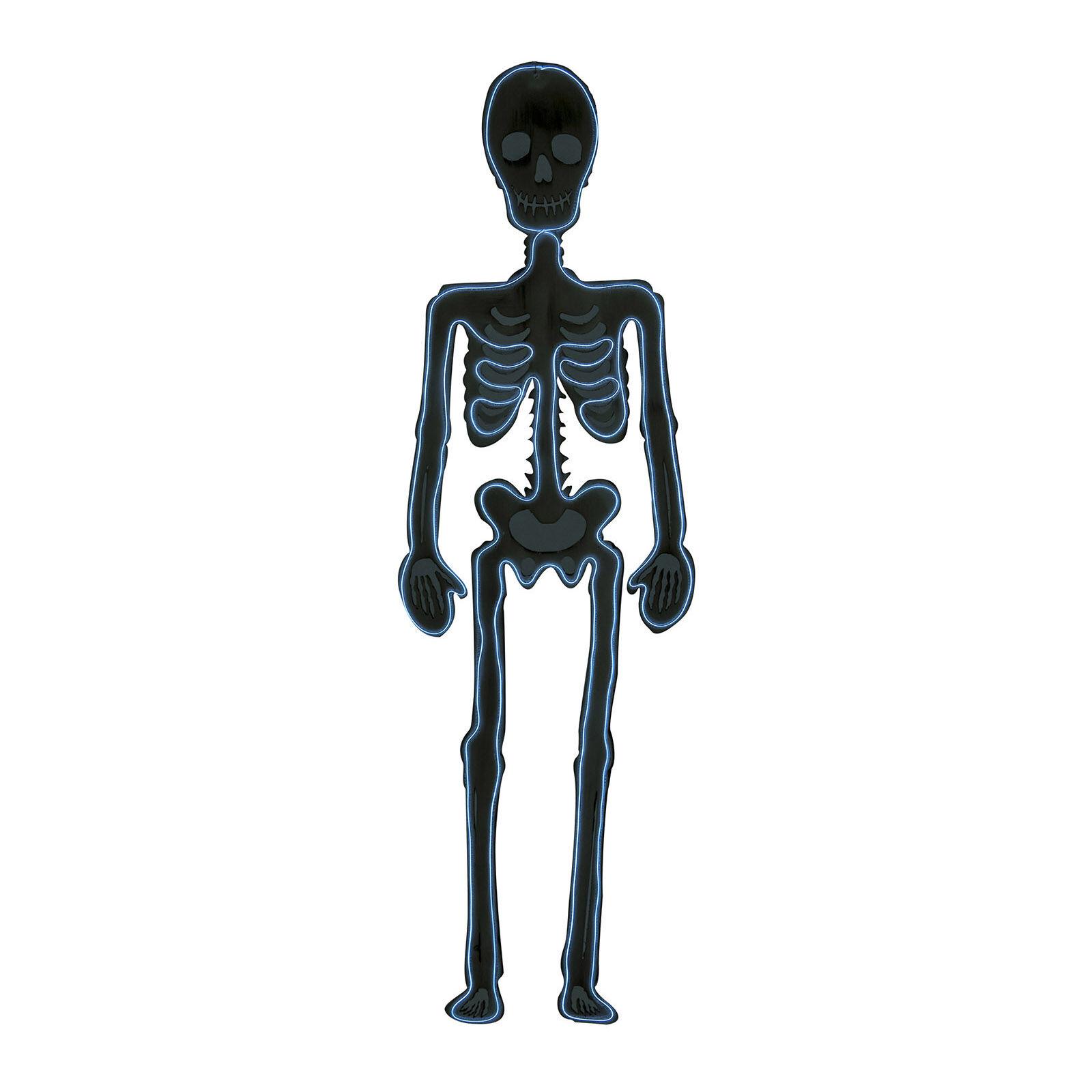 LOLA home Esqueleto de pared de Halloween negro de goma eva de 90 cm