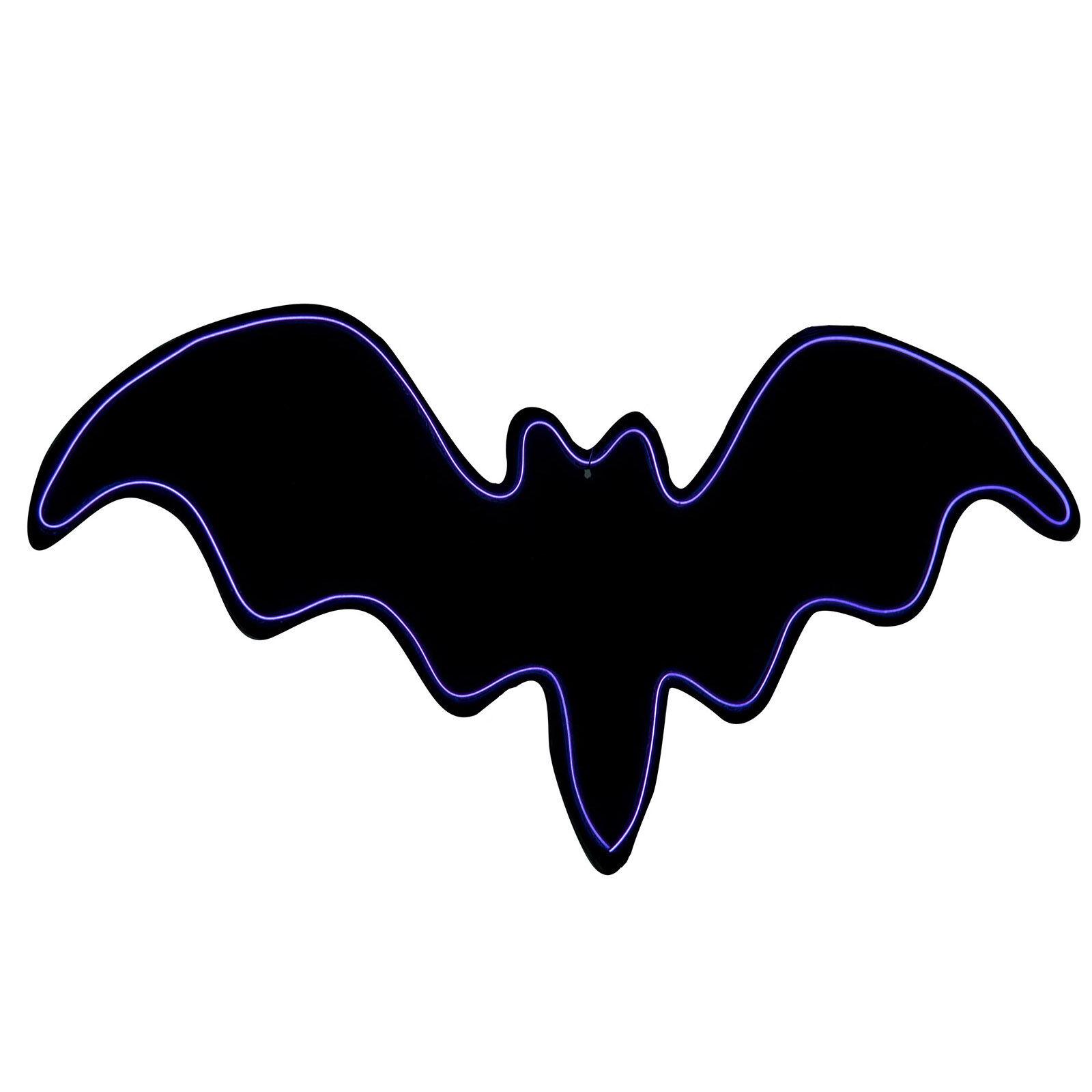 LOLA home Murciélago de pared para Halloween negro de goma eva de 26x50 cm