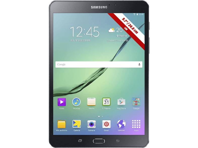 Samsung Tablet - Samsung Galaxy Tab S2 VE T813, Octa Core, 32GB, WiFi, Lector de huellas, Negro