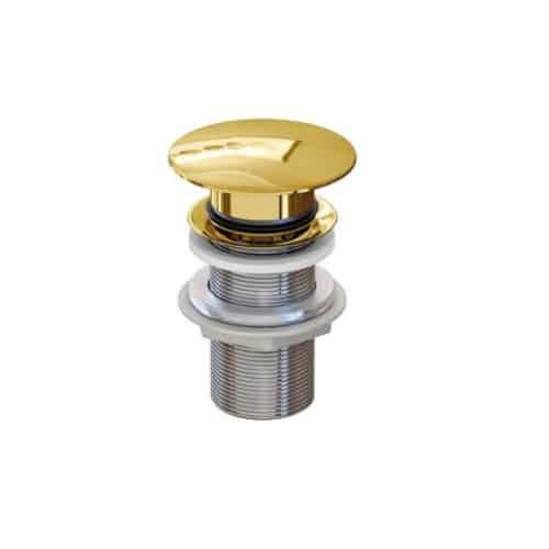 Válvula clic-clac redonda dorada - Inbaño