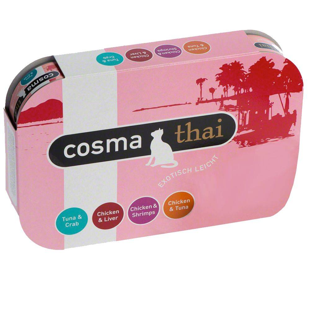 Cosma Thai en gelatina - Pack de prueba - 6 x 85 g: 4 variedades