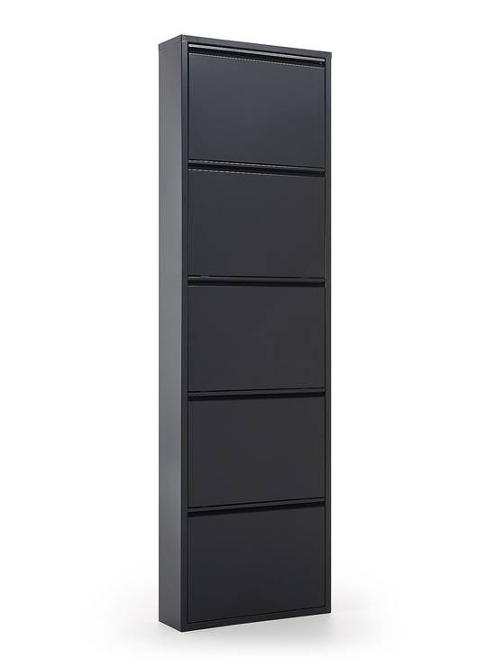 Zapatero metal 5 puertas gris antracita