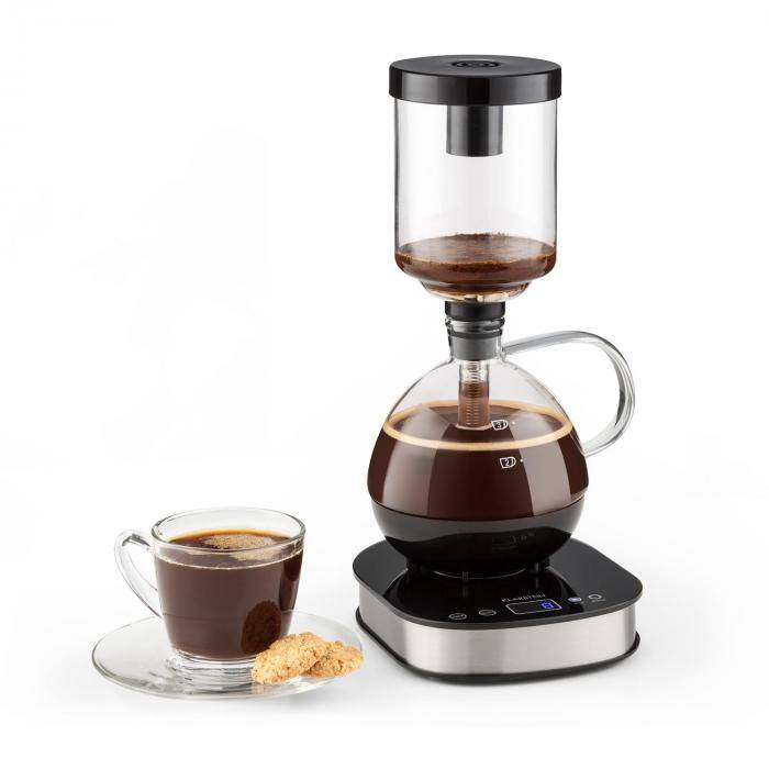 Klarstein Coffee Maker base 360° pantalla LCD 500 W cristal mantiene el calor