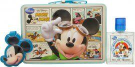 Disney Mickey Mouse Set de Regalo 50ml EDT Vaporizador + Etiqueta de Equipaje + Neceser de Viaje