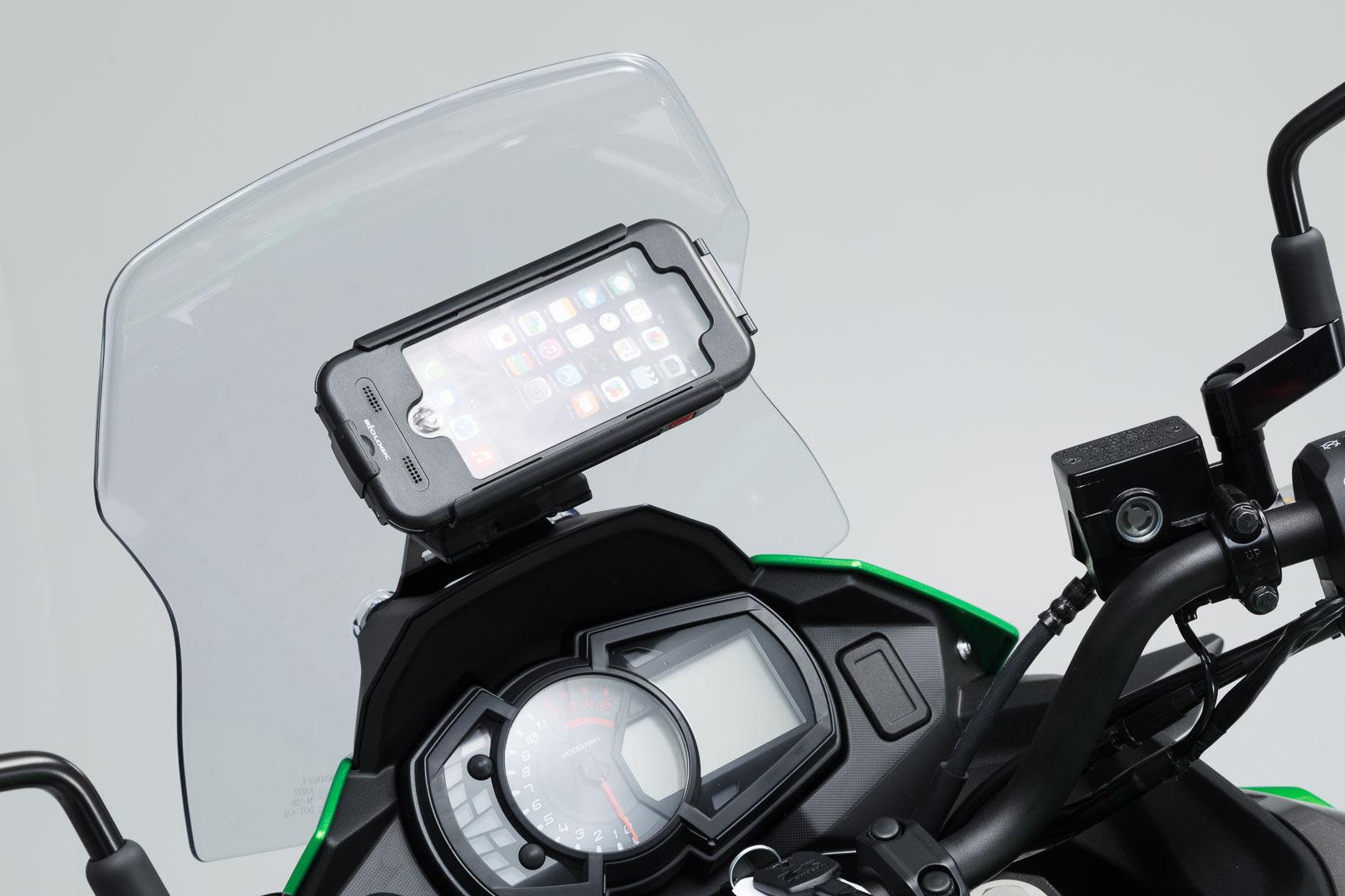 SW-Motech Soporte de GPS cockpit - Negro. Kawasaki Versys-X300 ABS (...