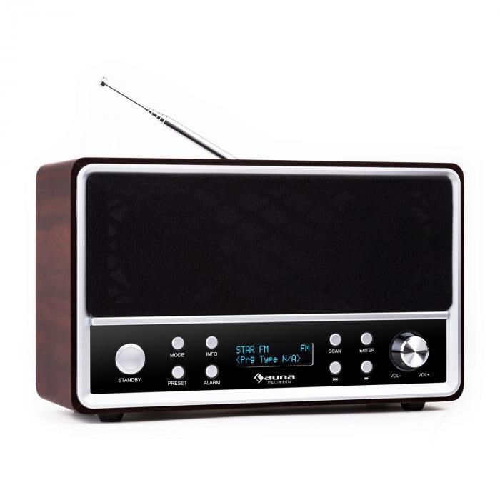 Auna Charleston Radio digital DAB+- portátil FM/AM RDS despertador