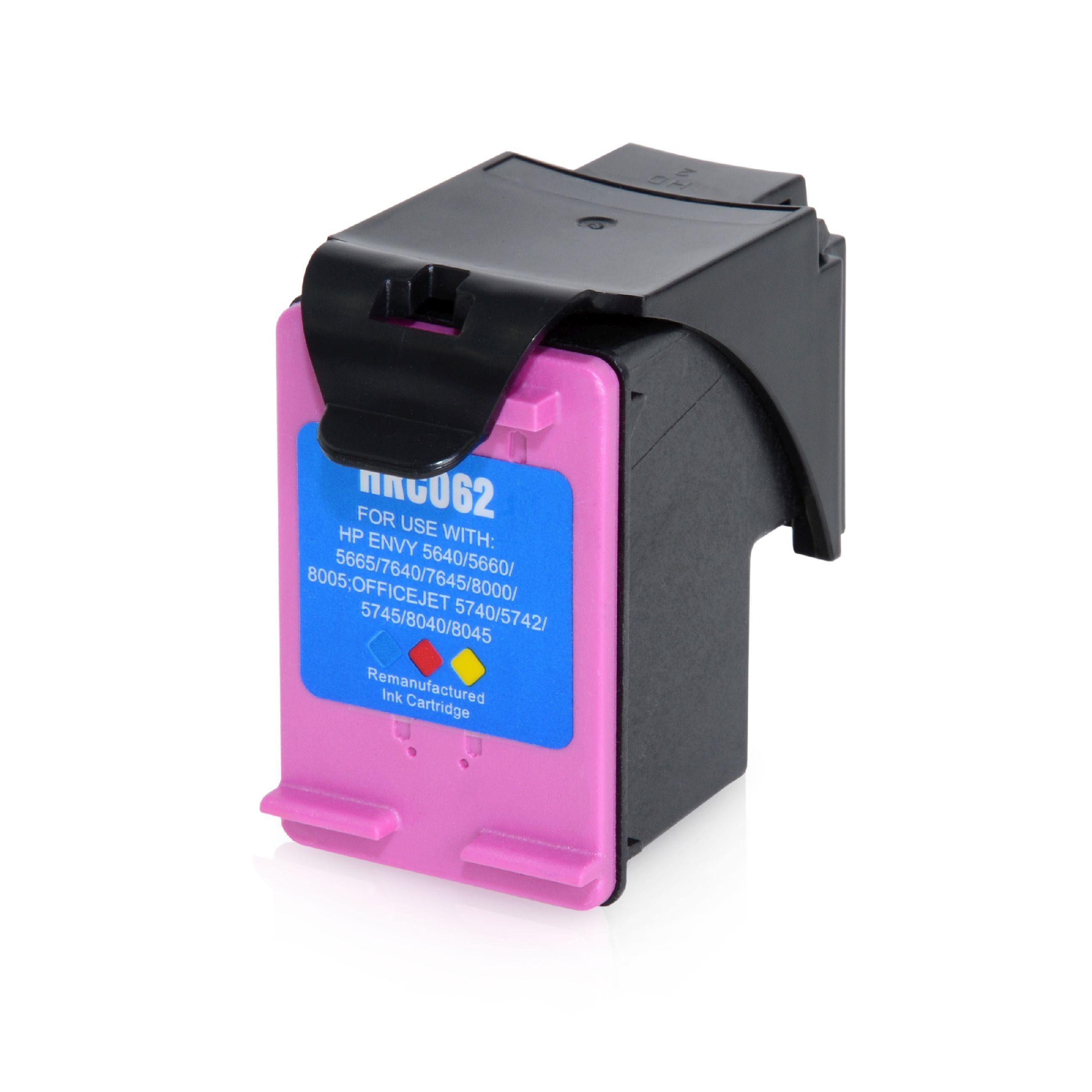 HP Cartuchos para impresoras para HP C2P07AE / 62XL color compatible (marca ASC)