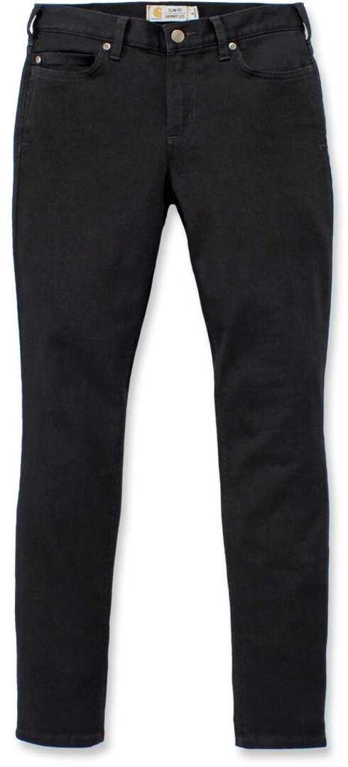Carhartt Rugged Flex Slim-Fit Layton Pantalones de señoras flacas Negro 41 42