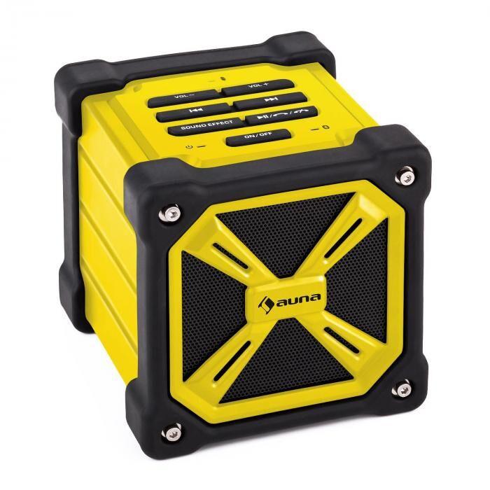 Auna TRK-861 Altavoz bluetooth portátil batería exterior amarillo