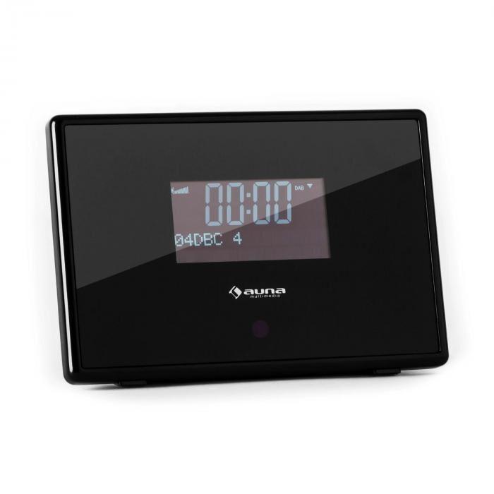 Auna Dabstar DAB/DAB+ Radio digital FM/AM RDS Despertador negro