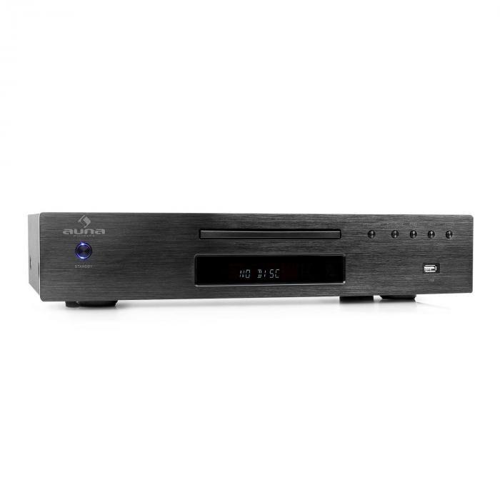 Auna AV2-CD509 Reproductor CD Hifi Radio USB Negro