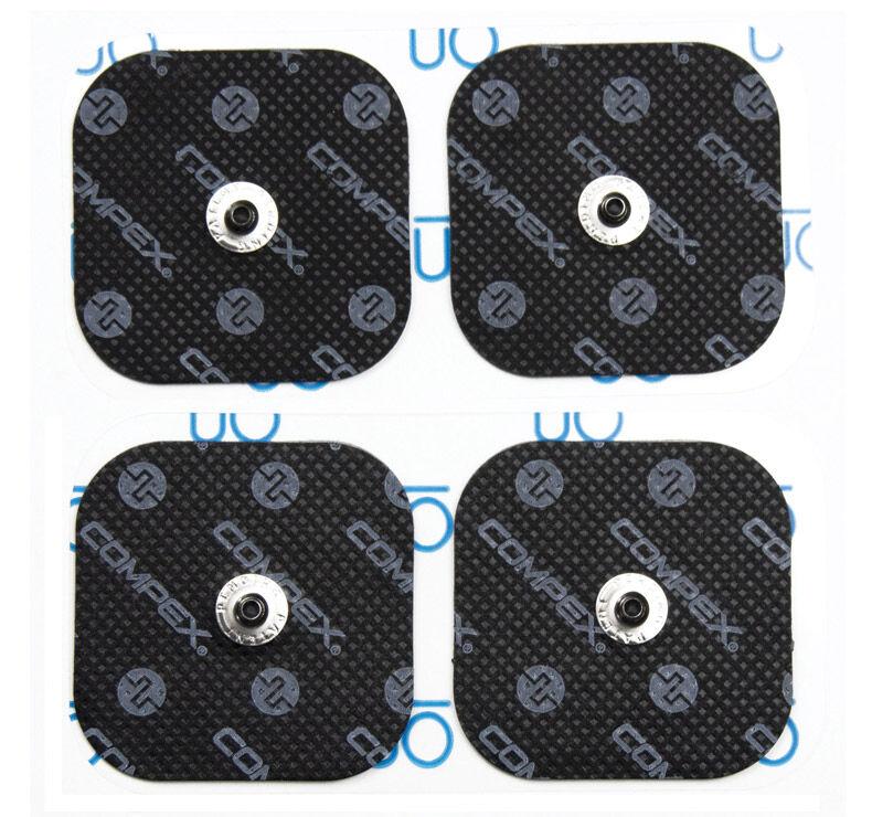 Compex 4 Electrodos Performance Snaps 5x5 cm Negros