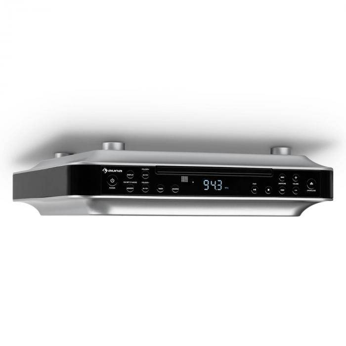 Auna KRCD-100 BT Radio bajo mueble CD MP3 Estereo negra (RM10-KR-CD100BT BK)