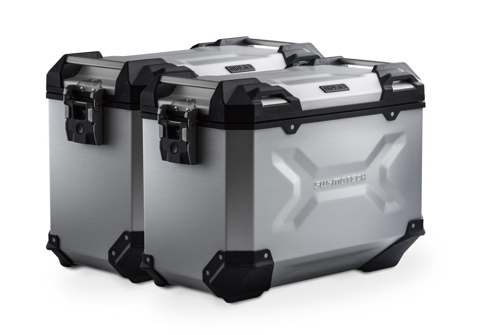SW-Motech Sistema de maletas TRAX ADV - Plateado. 45/45 l. Suzuki DL 650 (17-).