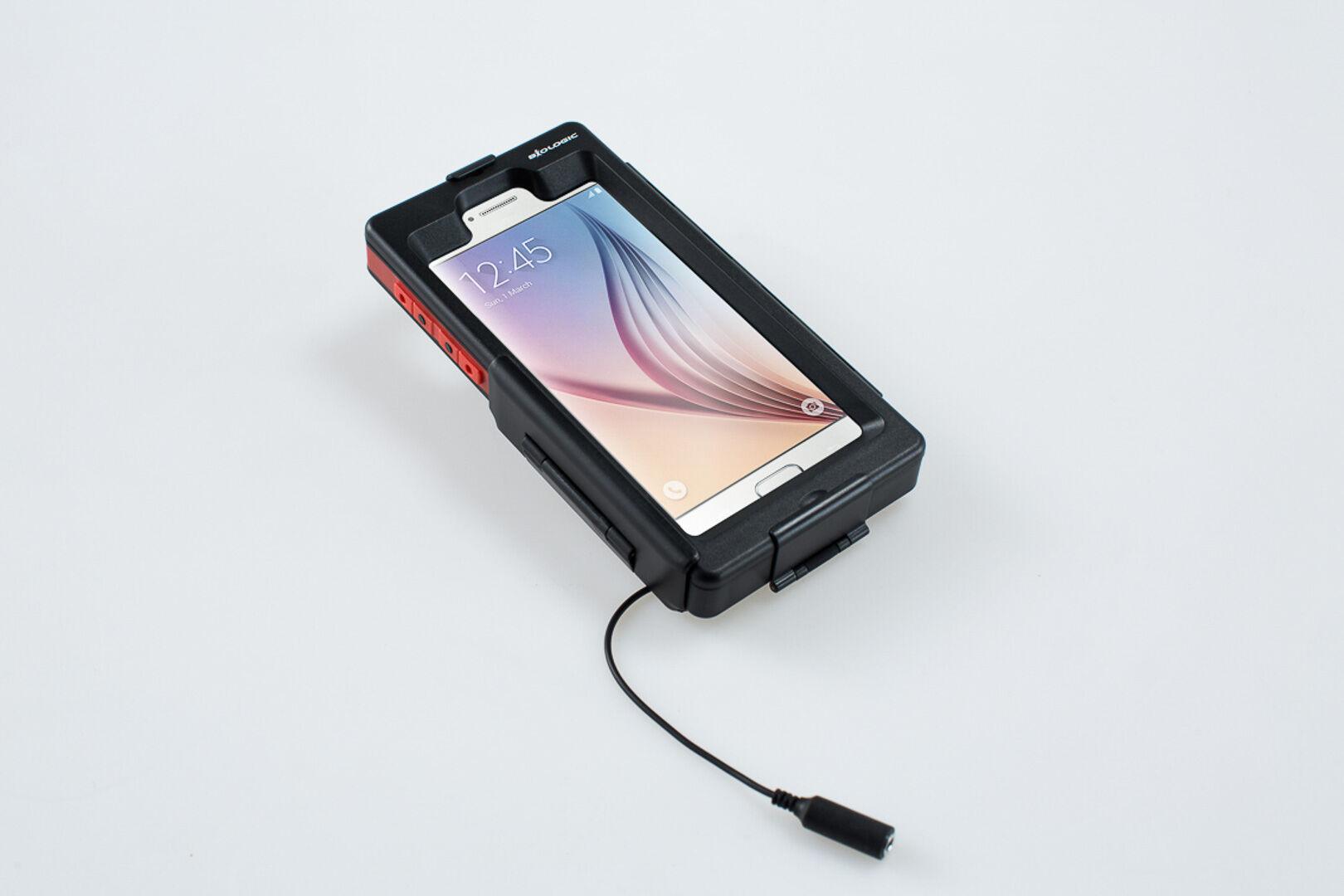 SW-Motech Hardcase para Samsung Galaxy S6 - Resistente al agua. Negro. Para soportes de GPS.
