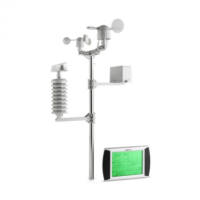 OneConcept Beaufort Estación meteorológica Temperatura Lluvia Humedad Presión Dirección/Velocidad del viento Inalámbrica Pantalla táctil LCD Solar