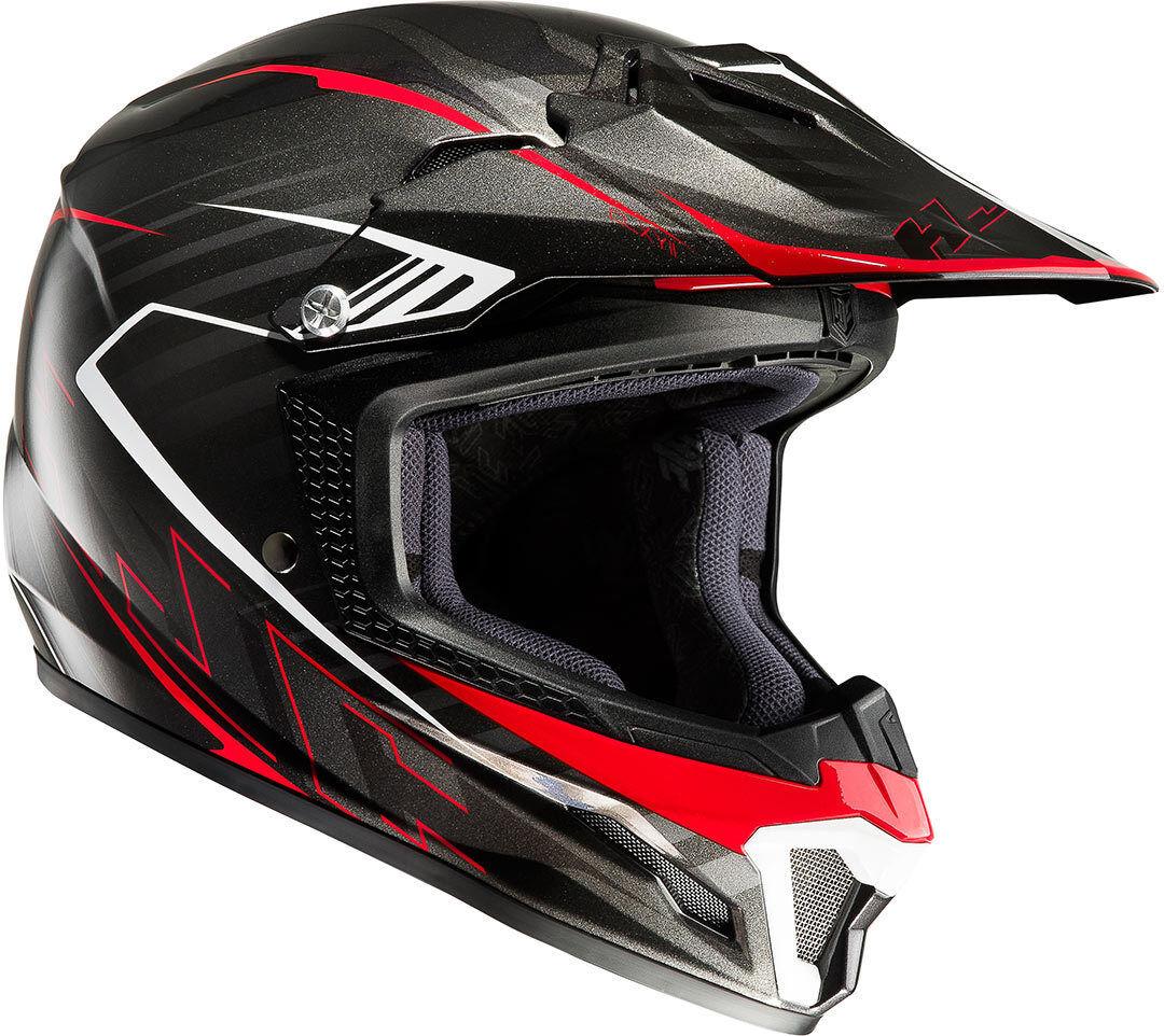 HJC CL-XY II Blaze Casco de Motocross de los niños Negro Rojo XL