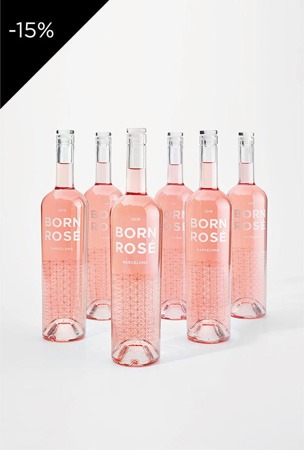 BORN ROS Barcelona 6 botellas de ROS (Original 2019) + posavasos de regalo