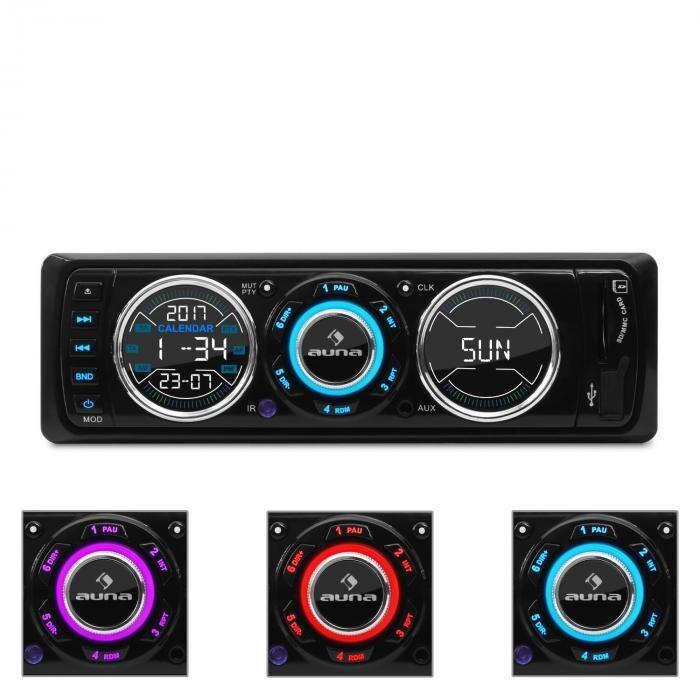 Auna MD-180 Radio de coche FM RDS USB SD MP3