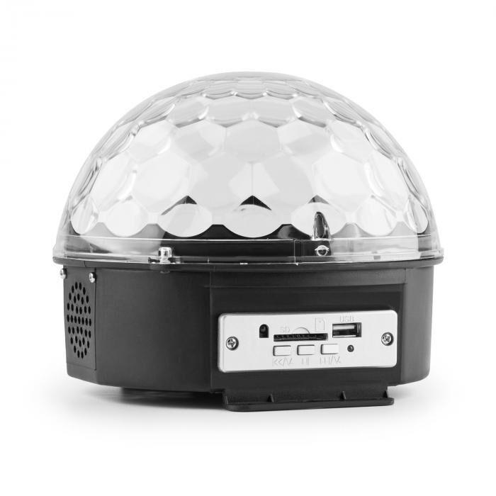 MAX Magic Jelly Bola de DJ con reproductor MP3 Efectos de luz LED RGB Control musical USB SD