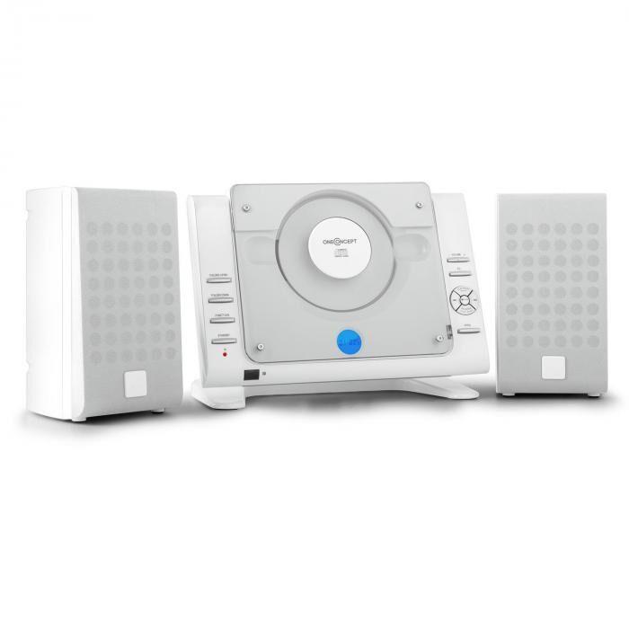 OneConcept Vertical 70 Equipo de música CD USB MP3 AUX blanco (MG8-Vertical-70-W)