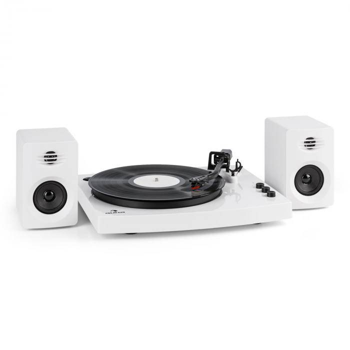 "Auna TT-Play Tocadiscos 2 altavoces estéreo (3""/10W) BT 33 1/3 & 45 U/minblanco (TTS9-TT-Play WH)"