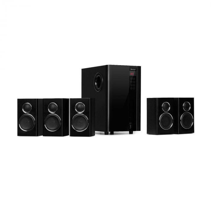 Auna Areal Touch 5.1 Sistema de altavoces 200 W máx. OneSide Subwoofer Bluetooth USB SD (MM-5.1-HS)