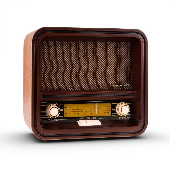 Auna Belle Epoque 1901 Radio retro FM/AM USB MP3