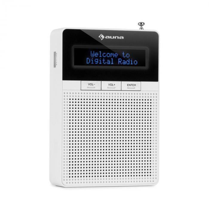 Auna DigiPlug DAB Radio DAB+ FM/AM Bluetooth Display LCD Blanco