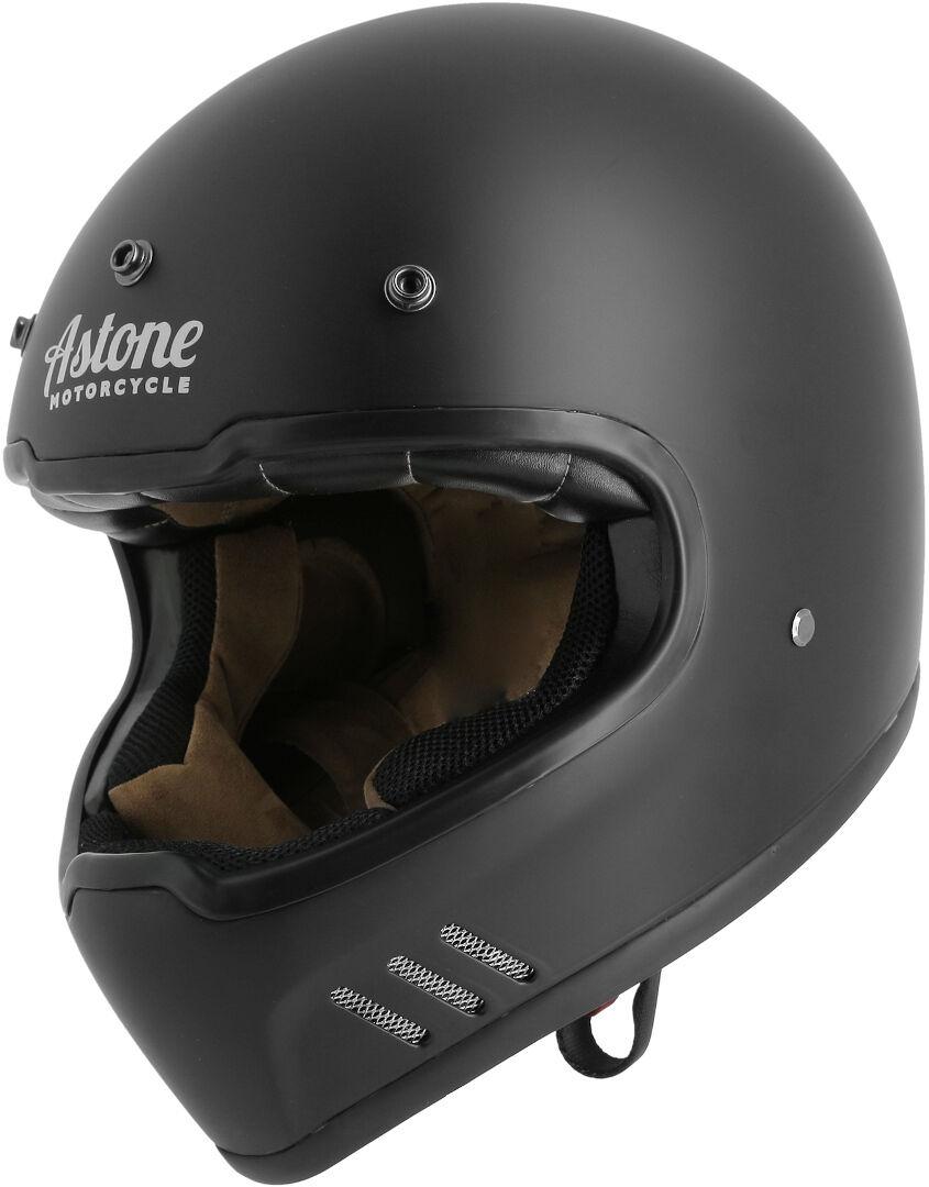 Astone Super Retro Casco Negro XS