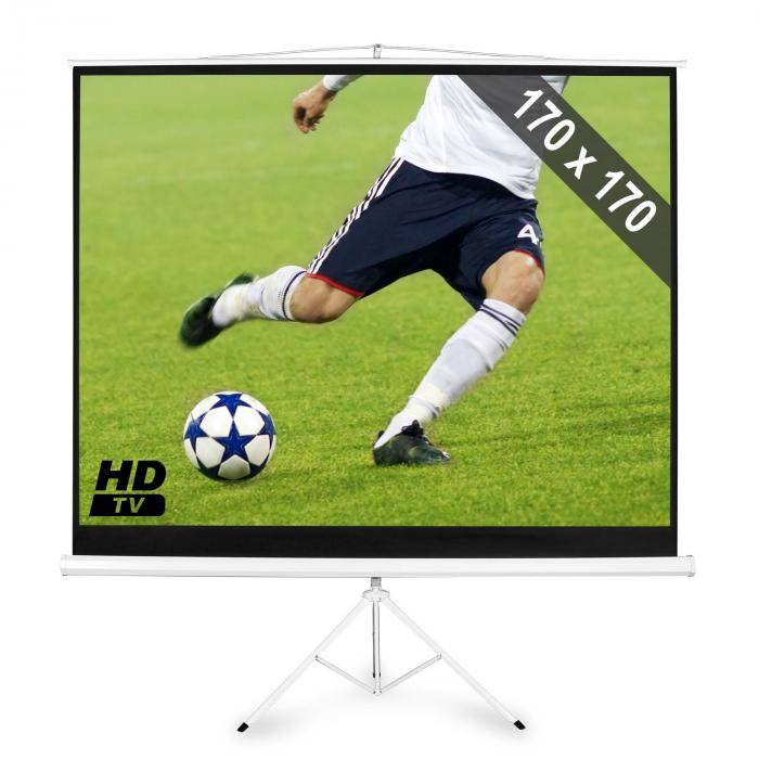 "FrontStage Pantalla HDTV con trípode de  para proyector 244 cm 170x170cm 1:1 (PS-PSCB-96"")"
