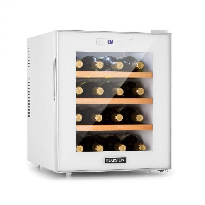 Klarstein Reserva 16 Blanco Refrigerador para vinos 16 botellas/ 48 l pantalla LED táctil Blanco
