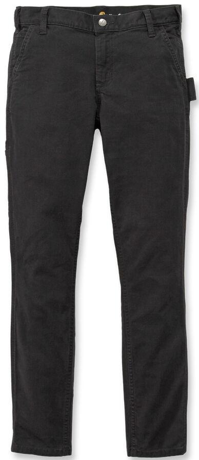 Carhartt Slim Fit Crawford Pantalones de las mujeres Negro 46 47