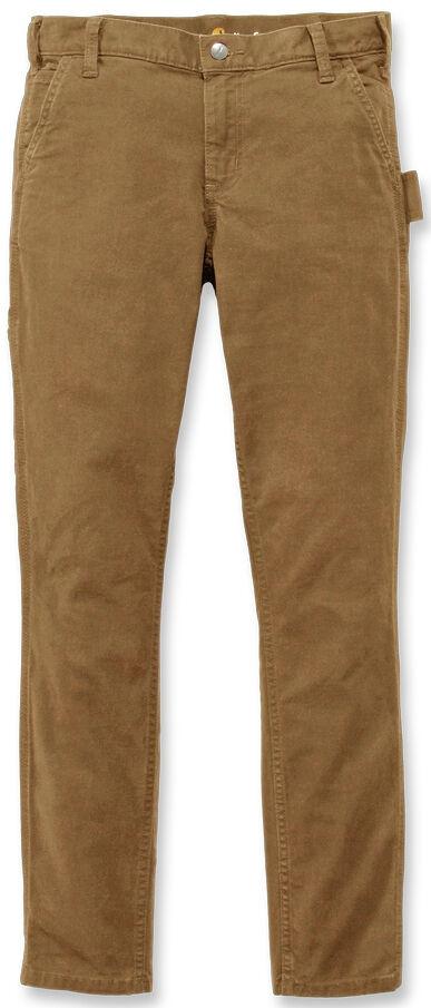 Carhartt Slim Fit Crawford Pantalones de las mujeres Beige 41 42