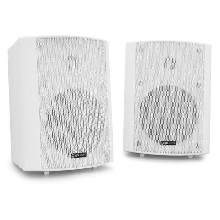 QTX Par de altavoces de pared  BC5A - color blanco, 30W RMS (170.165UK)