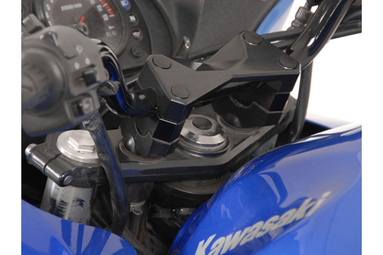 SW-Motech Elevador de manillar - Ø 22 mm. h=20 mm. Negro. Kawasaki Z...