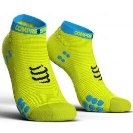 Compressport Calcetines Pro Racing Socks V3.0 Run Low Amarillo Fluor Talla T1