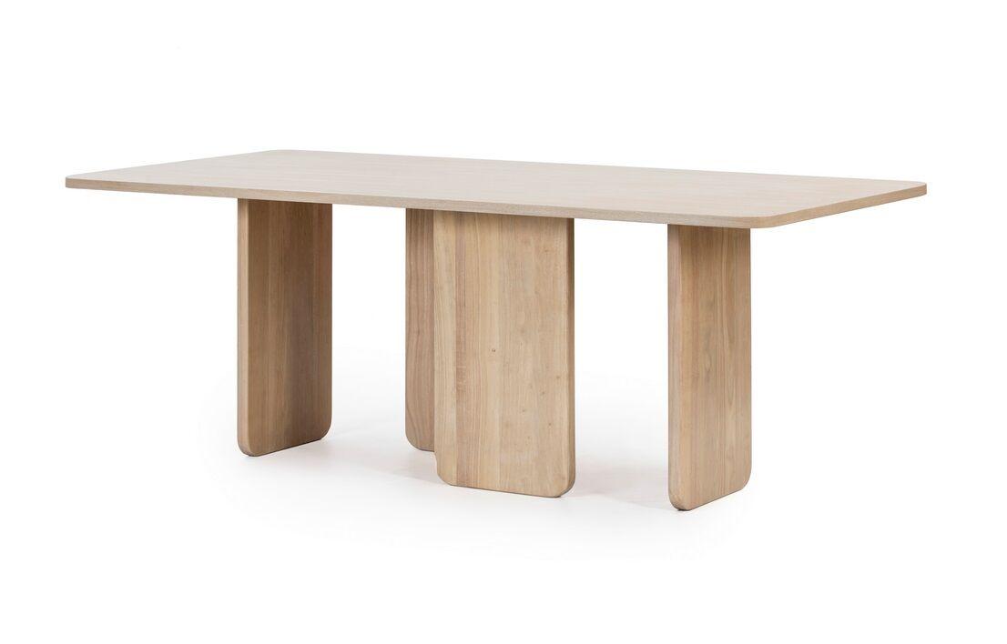 Arq mesa rectangular fresno natural 200x100