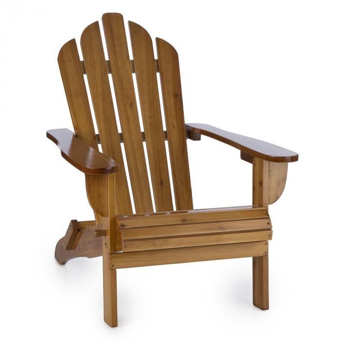 Blumfeldt Vermont silla de jardín estilo Adirondack madera de pino 73x88x94 plegable marrón