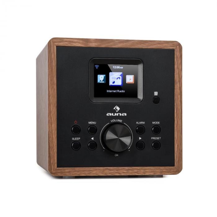 Auna Radio Gaga 2.0 Radio por Internet DAB+ WLAN FM Bluetooth AUX IN Estilo madera (MCD5-IR41 WN)