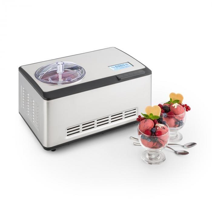 Klarstein Dolce Bacio Máquina para hacer helados Compresor 2L Pantalla LCD Táctil Acero inoxidable
