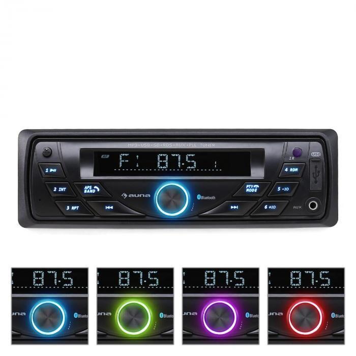 Auna MD-140-BT Radio coche MP3 USB RDS SD AUX Bluetooth