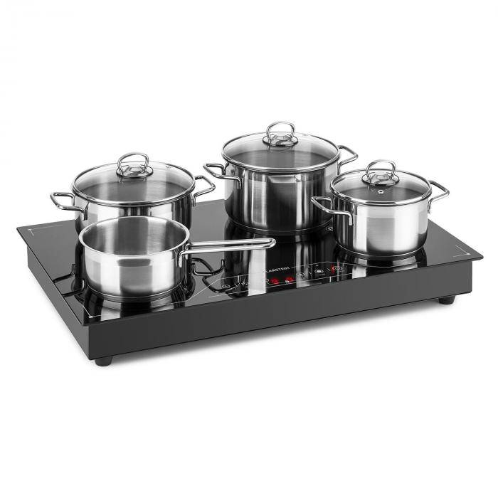 Klarstein Deejay Placa de inducción 3500W vitrocerámica Touch Cocina Electrica Potente Negra