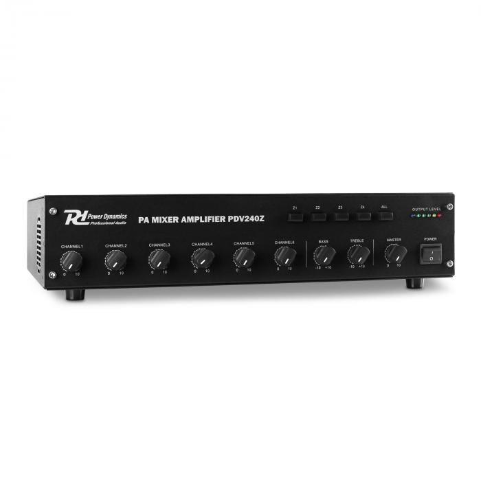 Power Dynamics PDV240Z Amplificador PA 6 canales 4 zonas