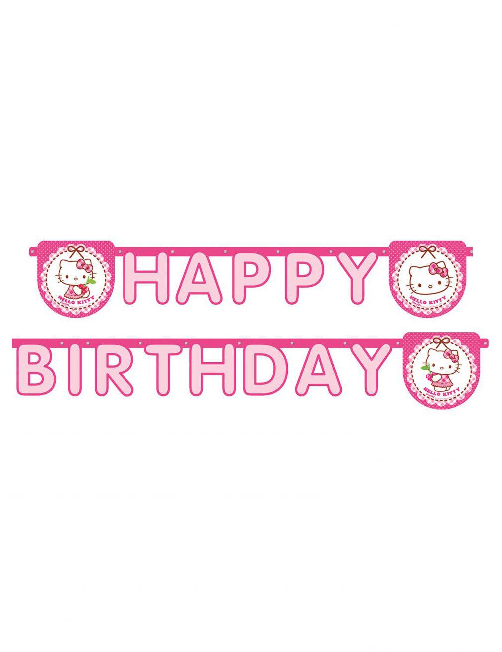 Vegaoo.es Guirnalda Happy Birthday Hello Kitty 2 m